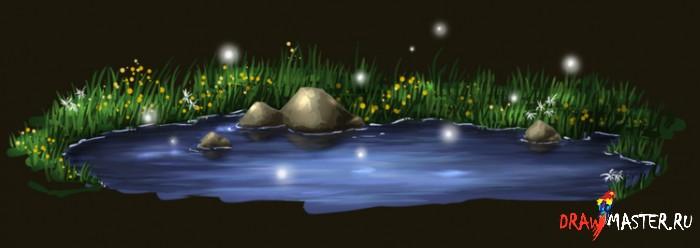 Мини-урок по рисованию Воды