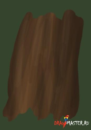 Как рисовать древесную Кору