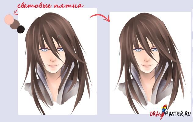 Как раскрашивать Волосы в SAI