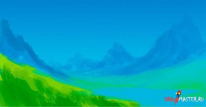 """Пошаговая иллюстрация создания картины """"Howl's Moving Castle"""""""