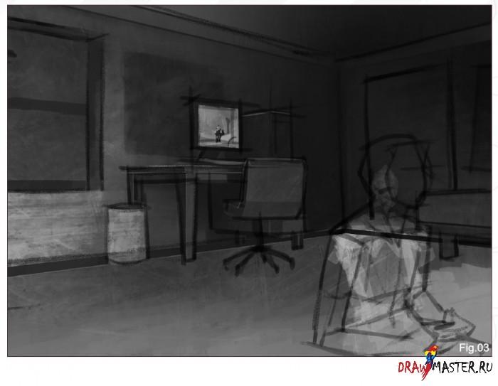 Как рисовалась картина «Скрученная Комната»