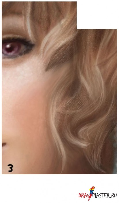 Рисуем светло-рыжие волосы