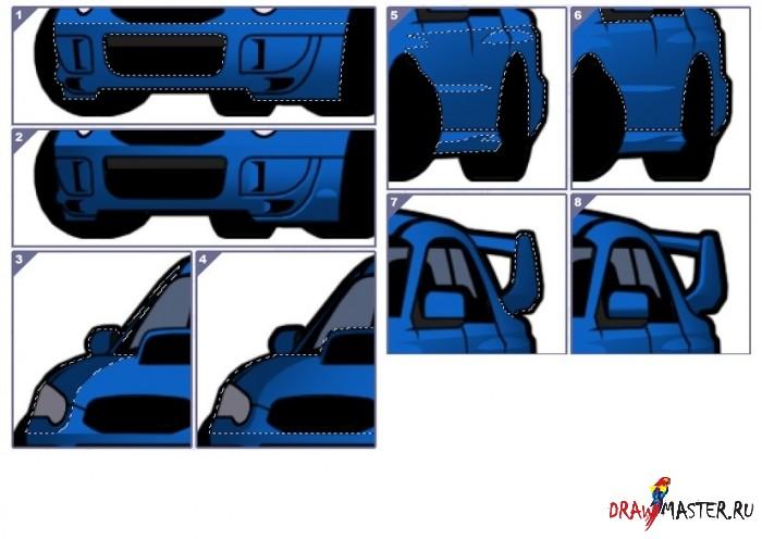 Машина в стиле Тиби: Урок по раскрашиванию кузова