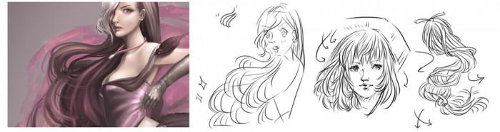 Учимся рисовать волосы