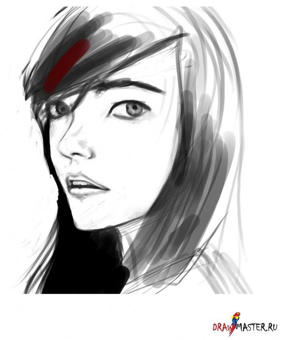 Рисуем портрет рыжеволосой