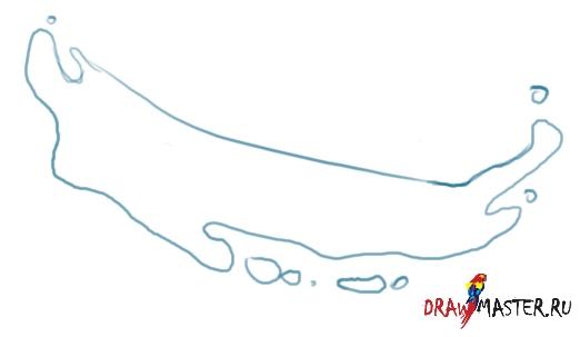 Как нарисовать капли Воды