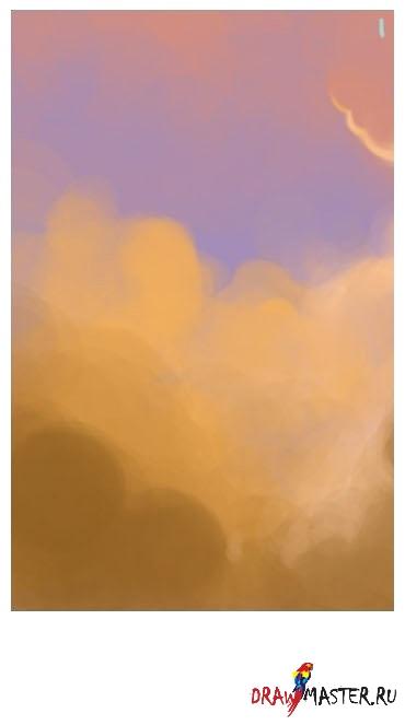 Рисуем иллюстрацию «Вы витаете в моих облаках»