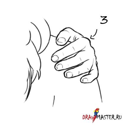Как рисовать Руки на бедрах/плече