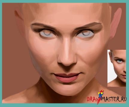 Урок по рисованию женского Портрета
