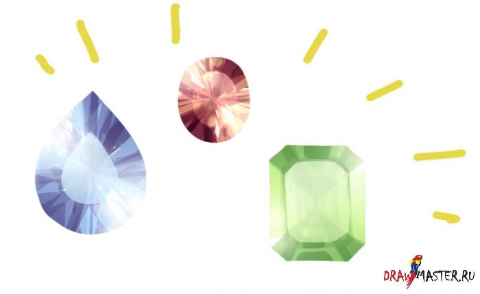 Как нарисовать реалистичные Драгоценные Камни