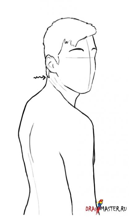 Как нарисовать фигуру, смотрящую через плечо