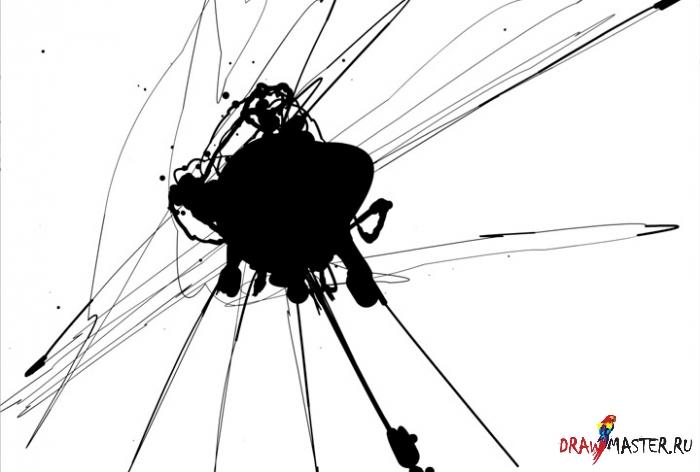 Как нарисовать битву с механическим Драконом