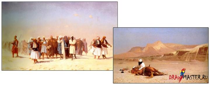 Як намалювати ілюстрацію «Перетинаючи Пустелю» - уроки малювання