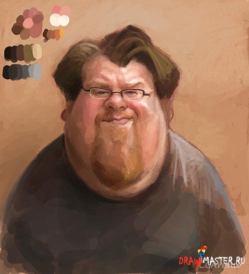 Как рисовался портрет Натана (Nathan)