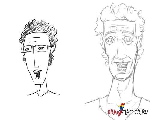 Как нарисовать Карикатуру на самого себя