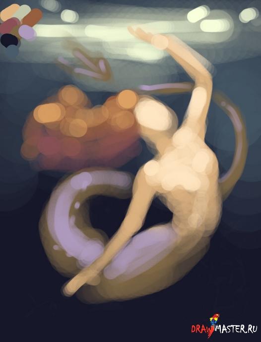 Рисуем обворожительную Русалку с Melanie Delon