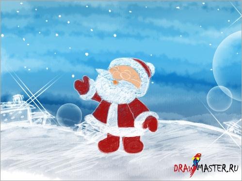 Рисуем Рождественские Обои для рабочего стола