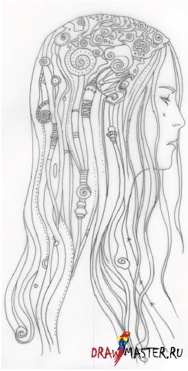Как нарисовать иллюстрацию «Голубая»