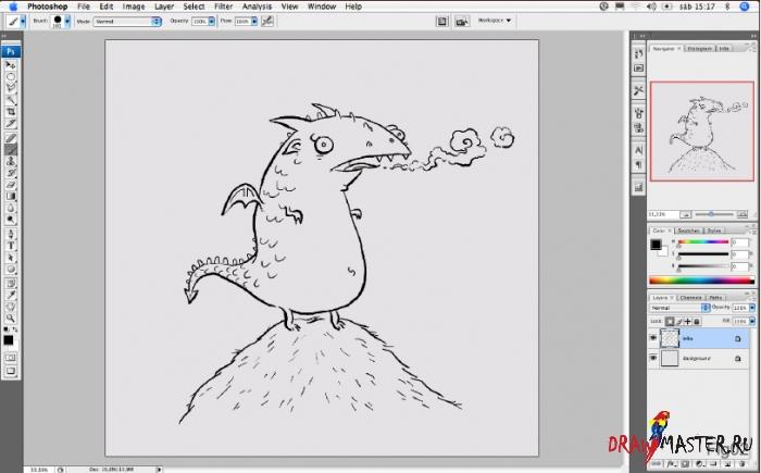 Как нарисовать мультяшного Дракона (Дракончика)