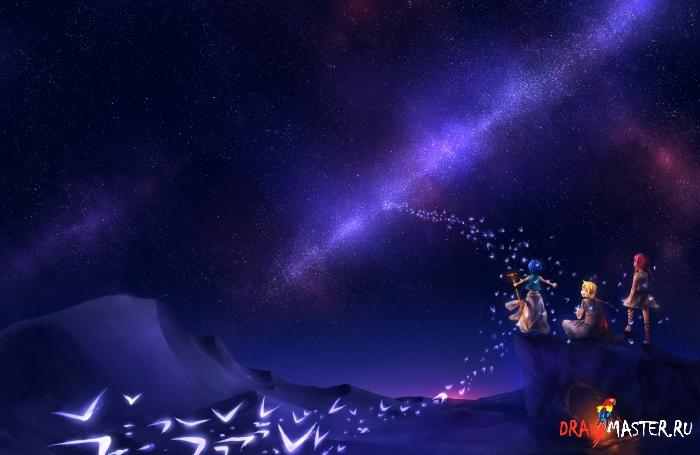 Как нарисовать Звездное небо в SAI