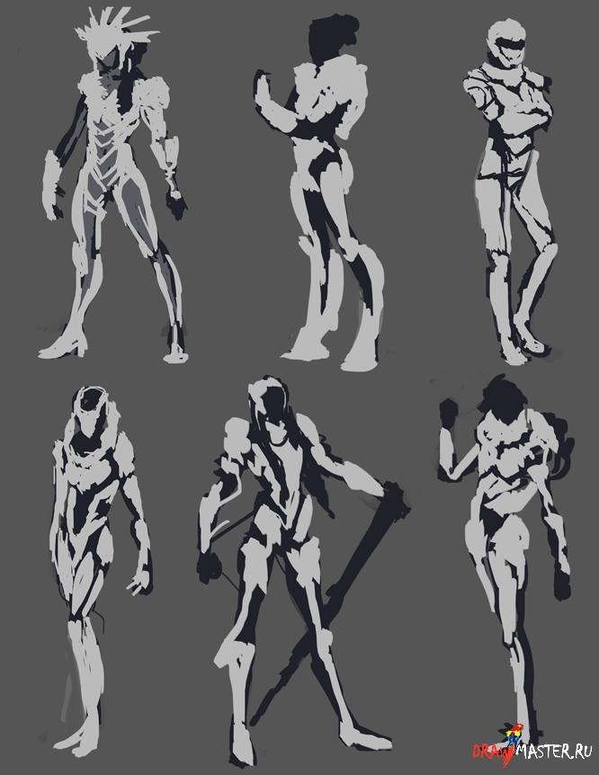 Як створити образ дівчини в стилі Ѕсі-Fi - уроки малювання