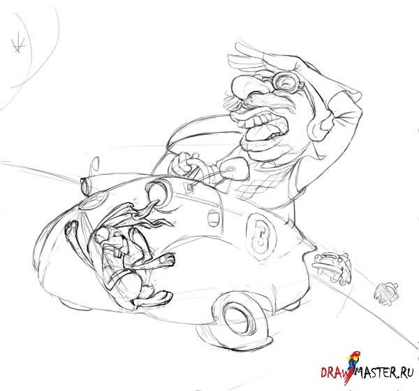 """Как нарисовать """"Непутевого Водителя"""""""