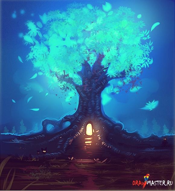 Как нарисовать Волшебное дерево