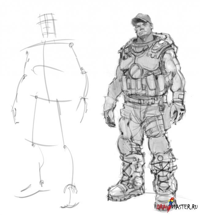 Как нарисовать Снайпера