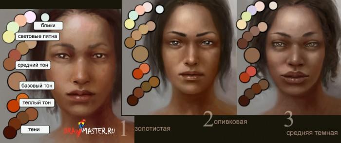 как сделать смуглый цвет кожи