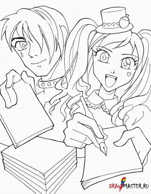 рисунки для начинающих аниме: