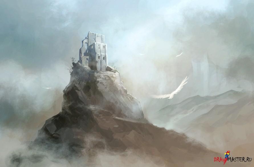 Как нарисовать руины разрушенного