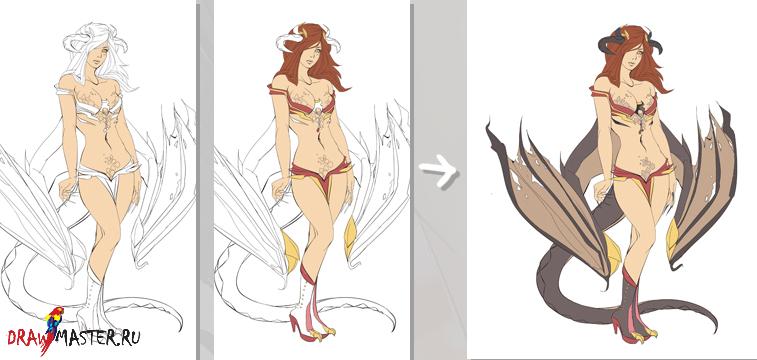как научиться рисовать карандашом дракона:
