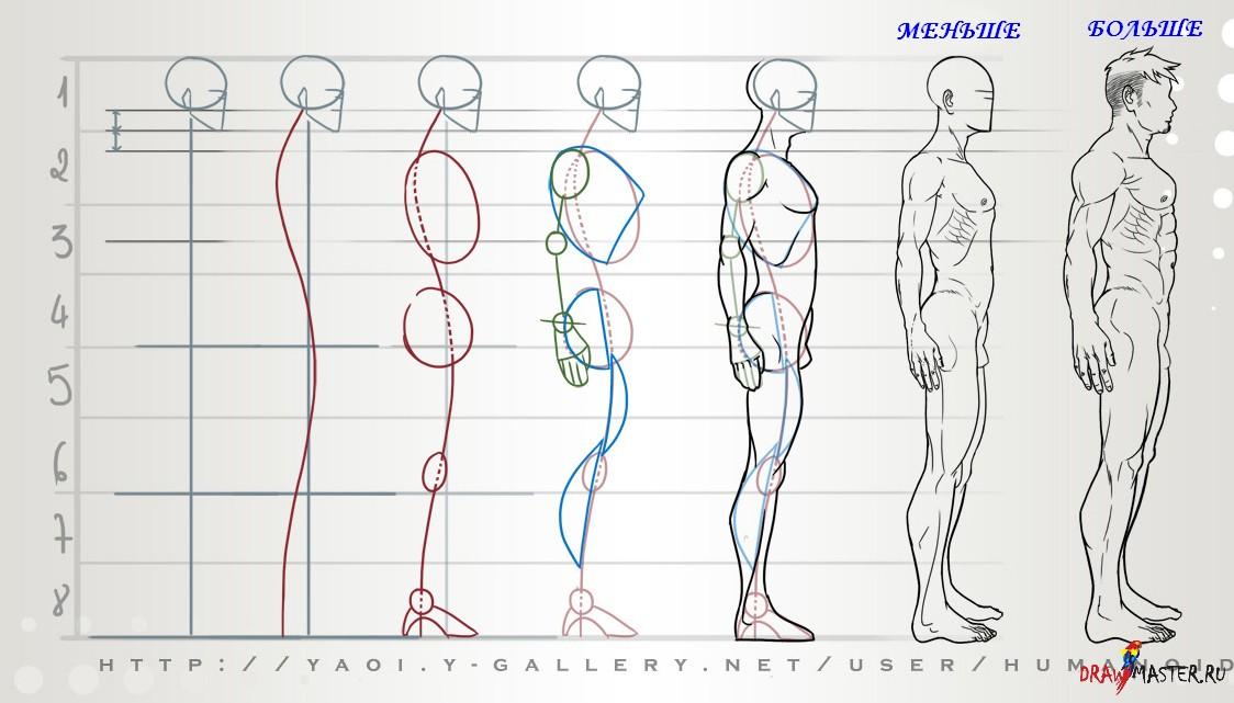 Как научится рисовать людей боком