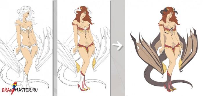 картинки аниме во весь рост: