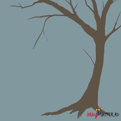Рисуем красивые деревья за несколько