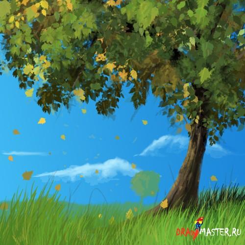 Как рисовать лес и природа