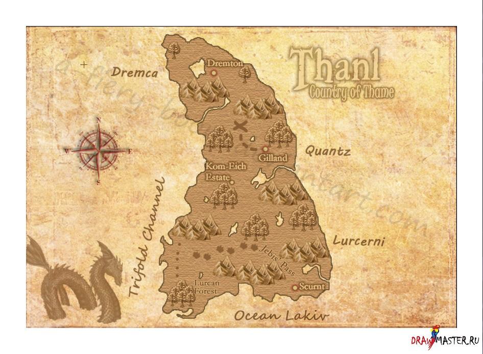 Как сделать географическую карту