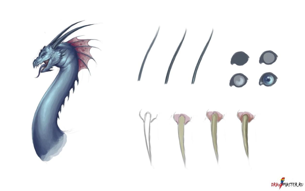 ШАГ 8. Как нарисовать Дракона