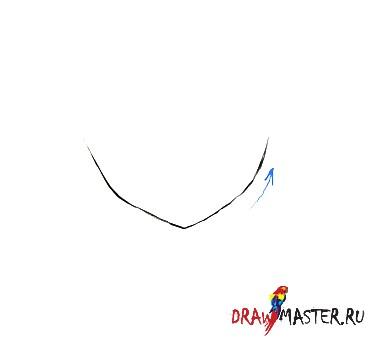 Рисовать нос в три четверти