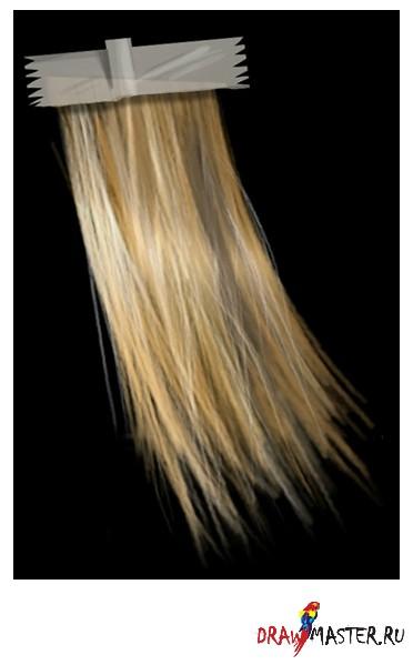 в меру длинные волосы