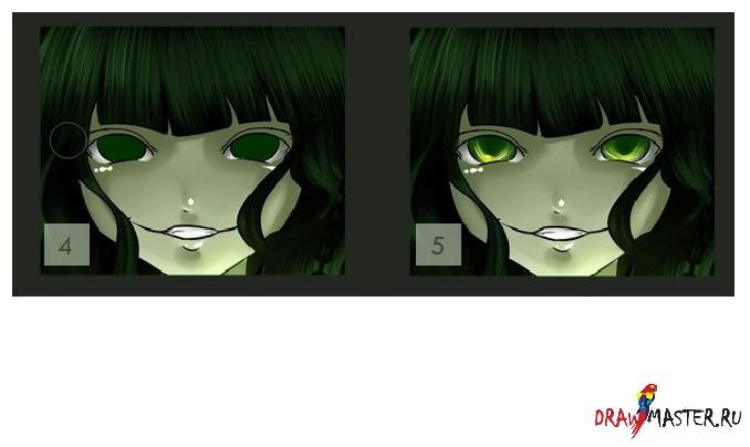 Как сделать глаза как в аниме
