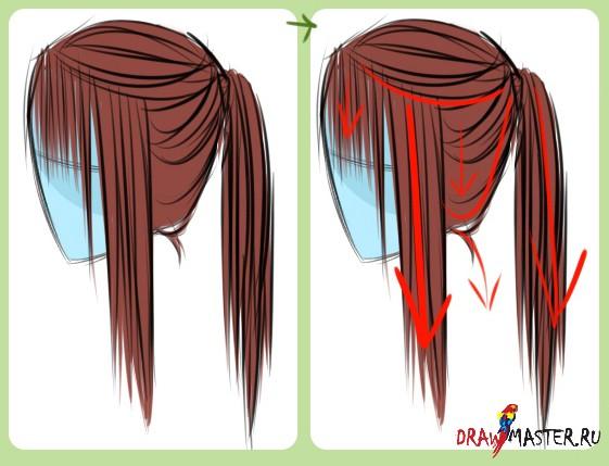 Как нарисовать аниме волосы парня