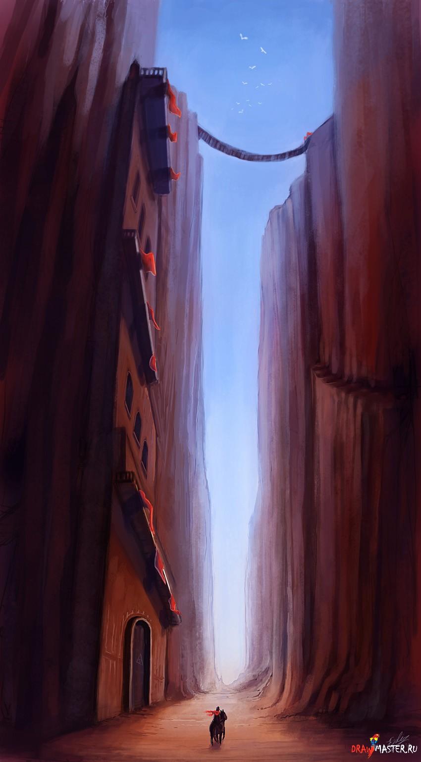 """Как нарисовать картину  """"Через горную Долину """""""