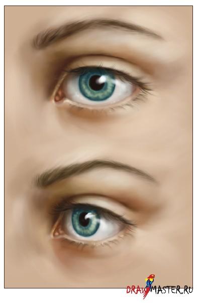 Глаза с ресницами рисунок