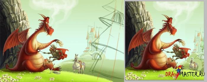Рисуем картину дракон