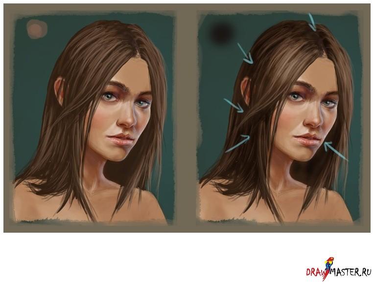 Как рисовать в фотошопе волосы
