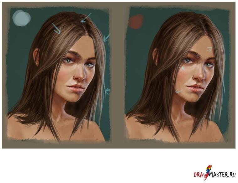 Как я рисую волосы в фотошопе
