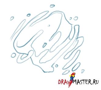 Нарисовать пошаговая каплю инструкция как