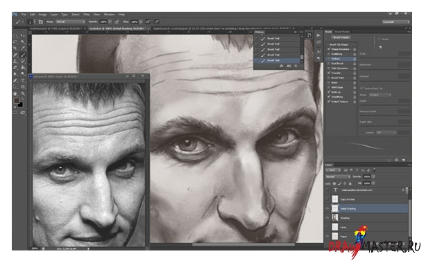 Как из фотографии сделать портрет нарисованный карандашом