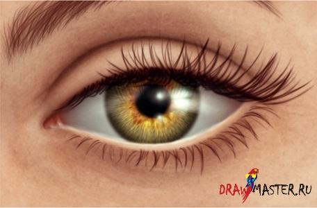Как сделать необычные глаза в фотошопе